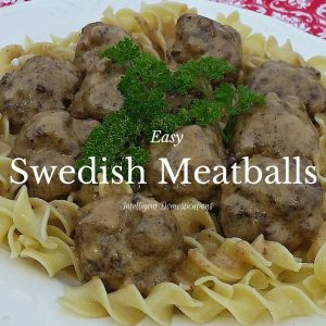 Easy Swedish Meatballs recipe.