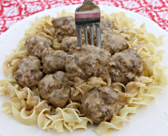 Made from scratch meatballs are the star of the show in our easy Swedish Meatball recipe. Make your meatballs ahead and keep them in the freezer.