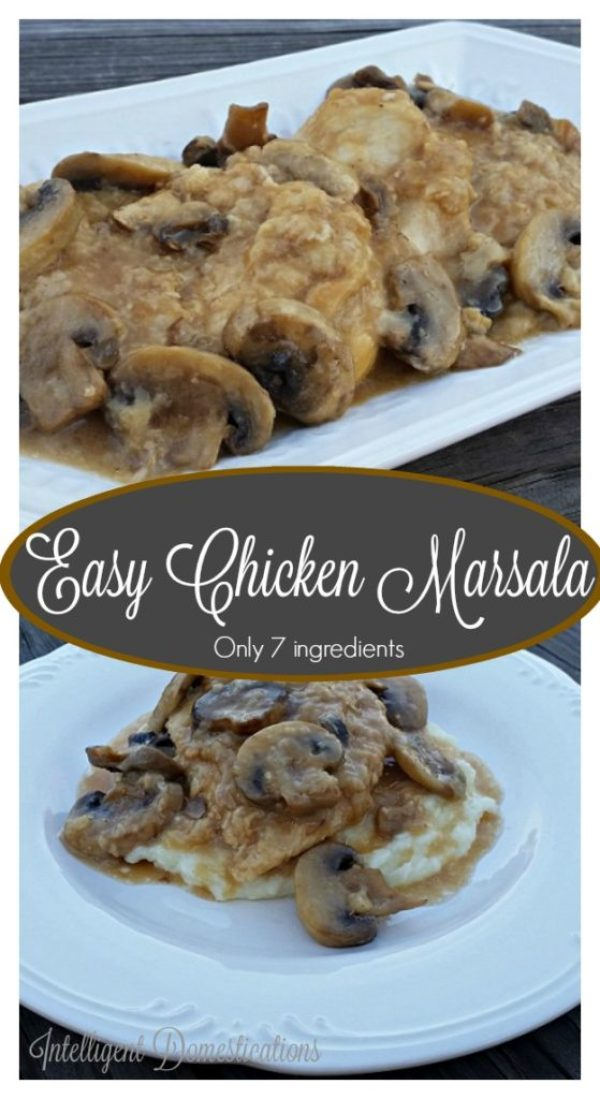 This Easy Chicken Marsala recipe has only 7 ingredients. Easy Chicken Marsala Recipe. How to make Chicken Marsala at home. This Easy Chicken Marsala recipe has only 7 ingredients. Weeknight meal idea. Dinner recipe with few ingredients. Weeknight meal idea. #chickenrecipe #chickenmarsala #weeknightdinner #whatsfordinner
