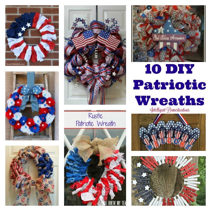 patriotic wreaths for front door10 DIY Patriotic Wreaths  Intelligent Domestications