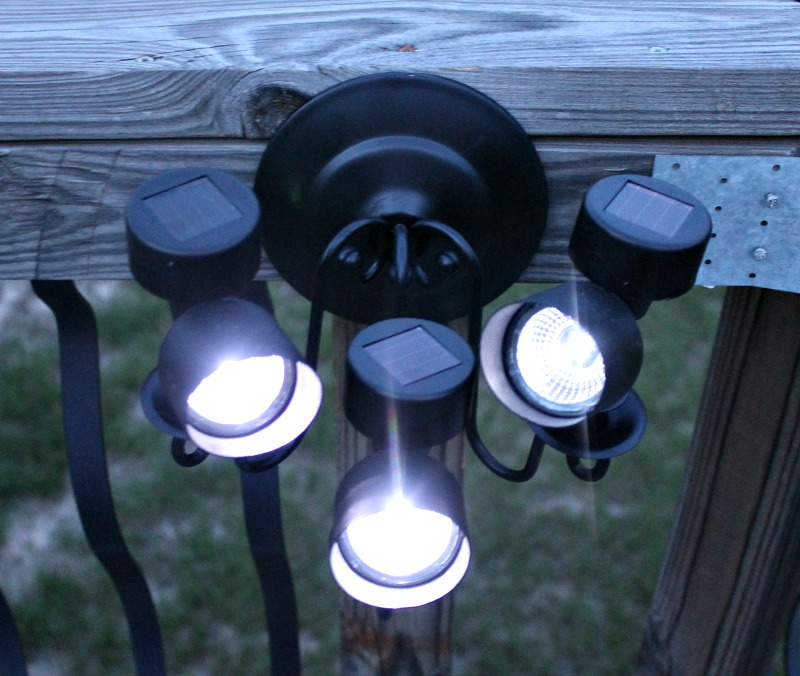 DIY Solar Directional Deck Light