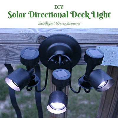 DIY Solar Directional Deck Lighting