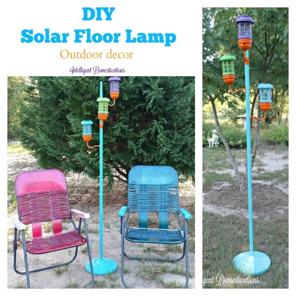 How to make a solar floor lamp for your porch or deck