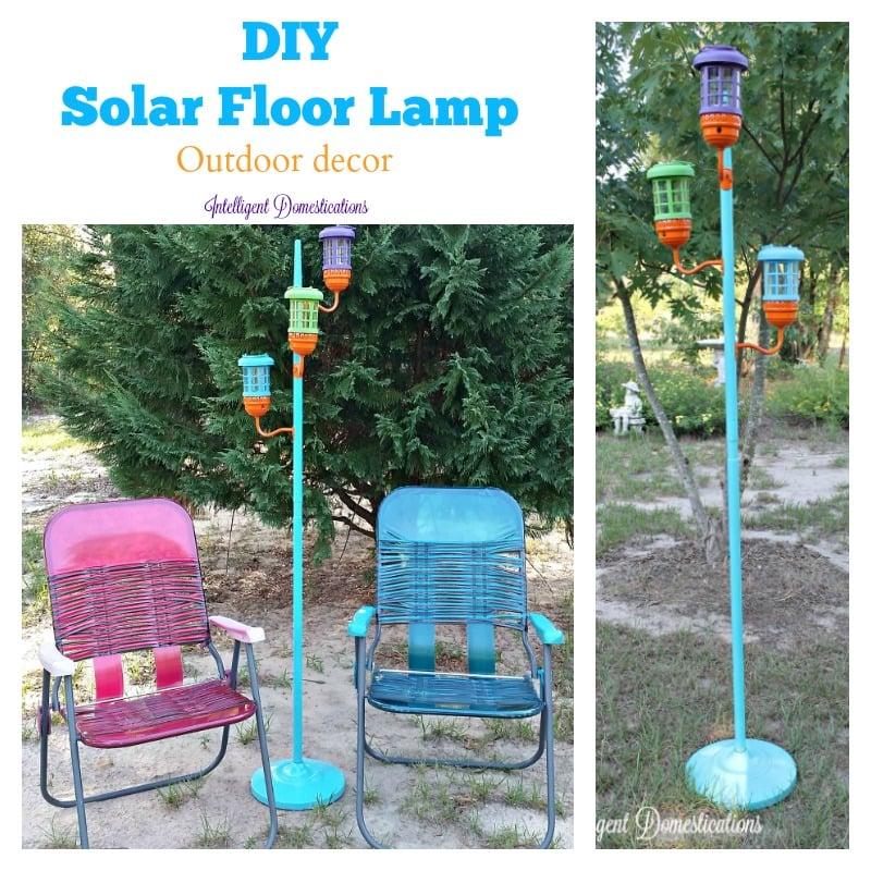 DIY Solar Floor Lamp Outdoor decor