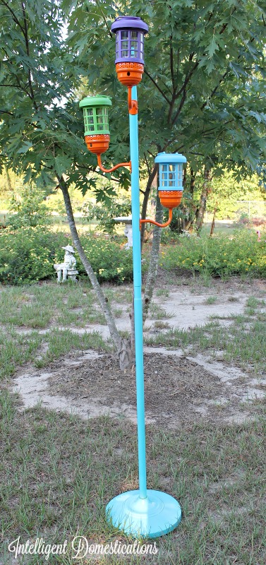 This DIY Solar Standing Lamp project was so much fun. I really love the whimsical colors for outdoor fun