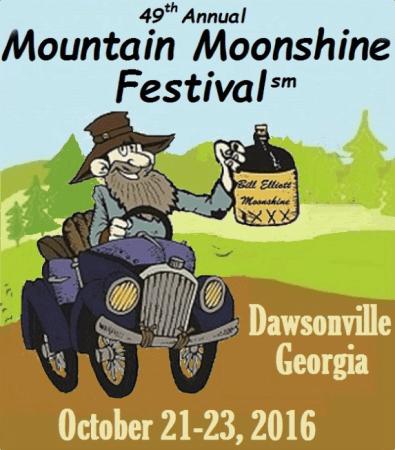Mountain Moonshine Festival. Dawsonville,Ga. Oct. 21-23 2016