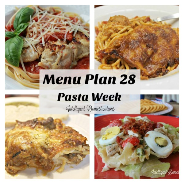 Pasta Week Menu Plan