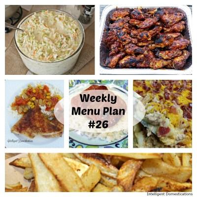 Weekly Menu Plan 26