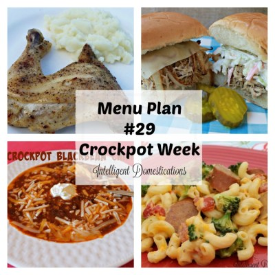 Menu Plan 29 Crockpot Week