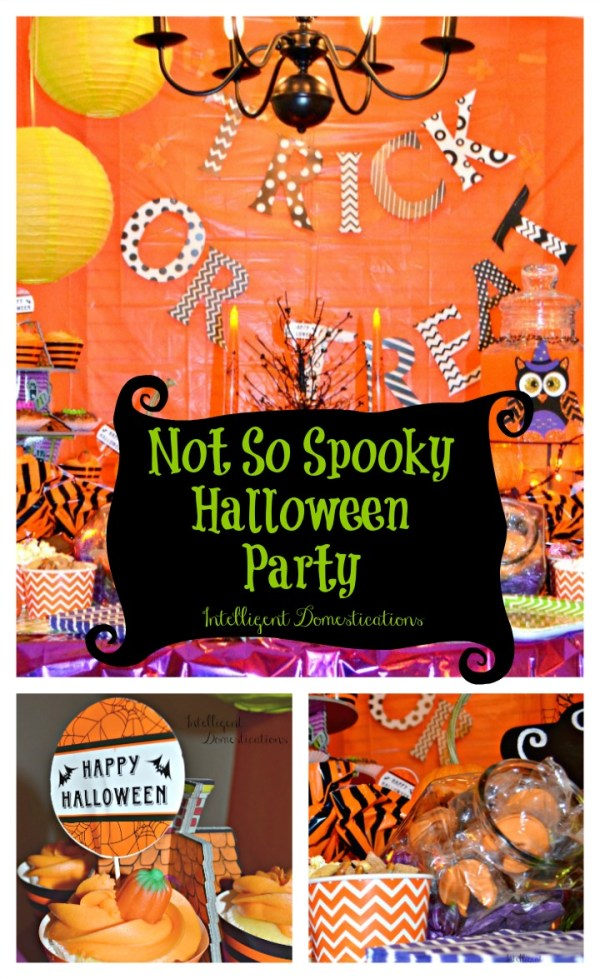 Not So Spooky Halloween Party plans and ideas. #halloween
