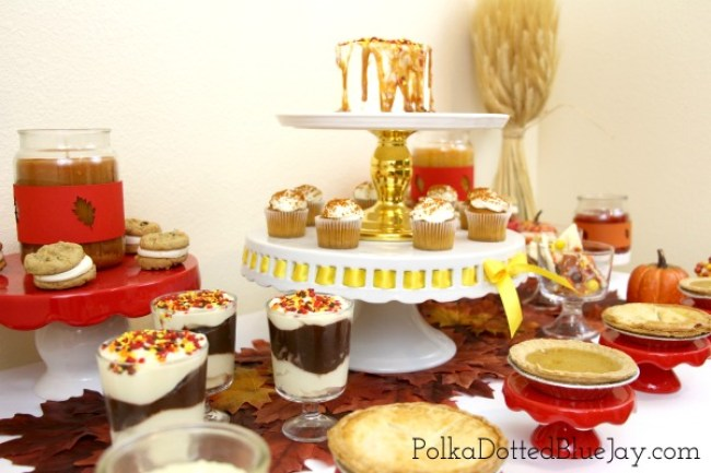 red-and-yellow-dessert-table