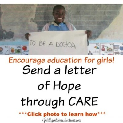 Join Me And CARE In Sending Letters Of Hope