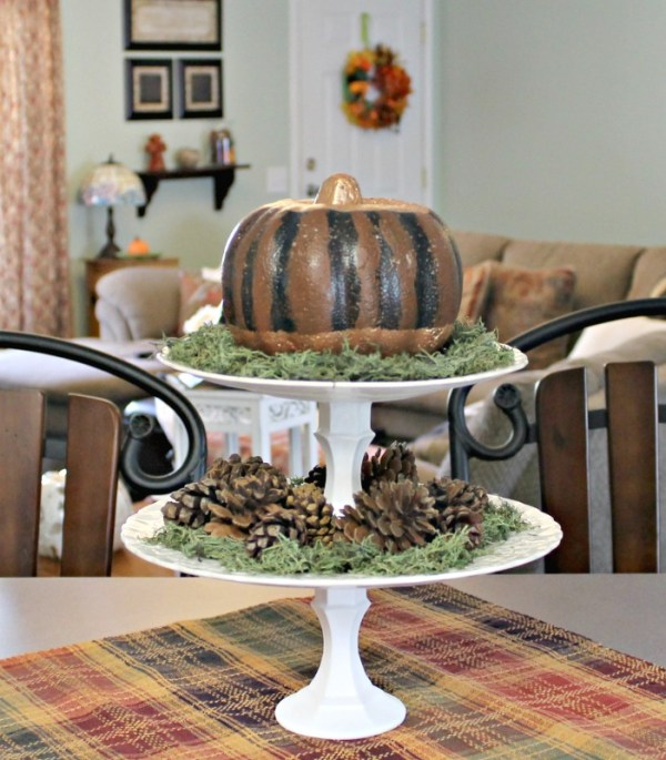Dollar Store Pumpkin Makeover. How to makeover a Dollar Store pumpkin to match your decor
