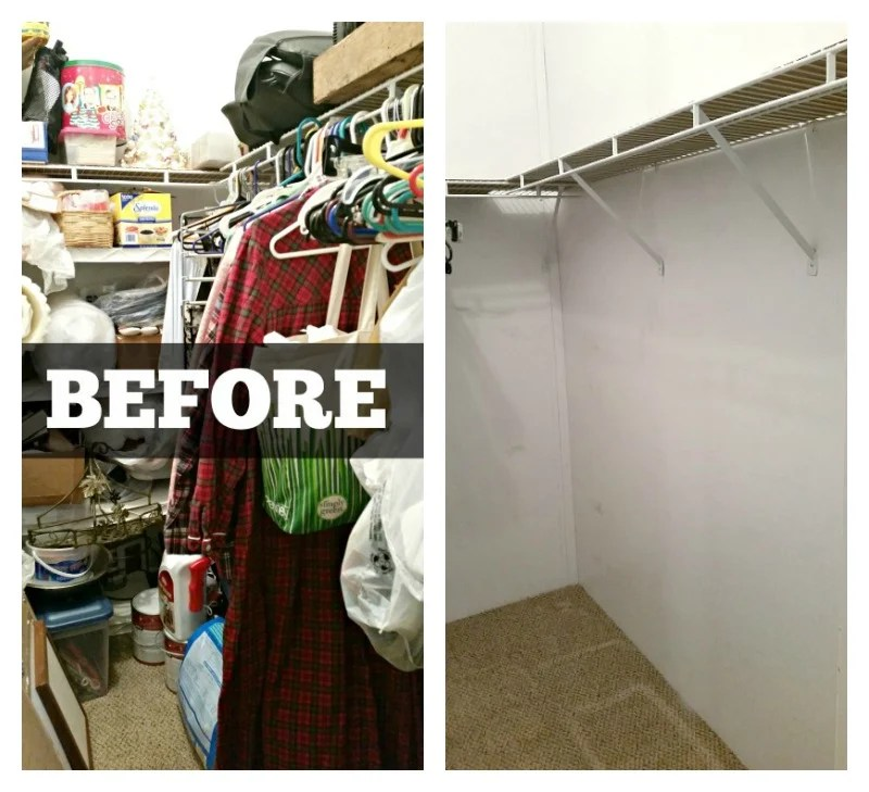 Before Picture Of Bedroom Closet Makeover