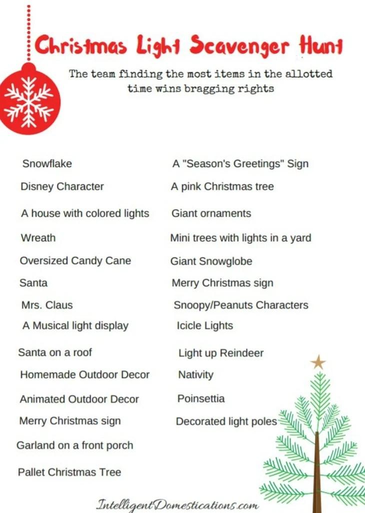 Christmas Party Scavenger Hunt Ideas Part - 30: Christmas-lights-scavenger-hunt-party-game-free-printable-