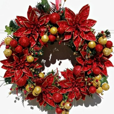 Poinsettia Christmas Wreath Tutorial