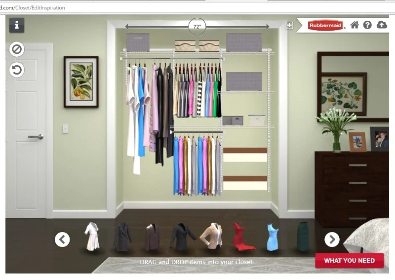 Our Closet Design Using The Rubbermaid Storage Planner