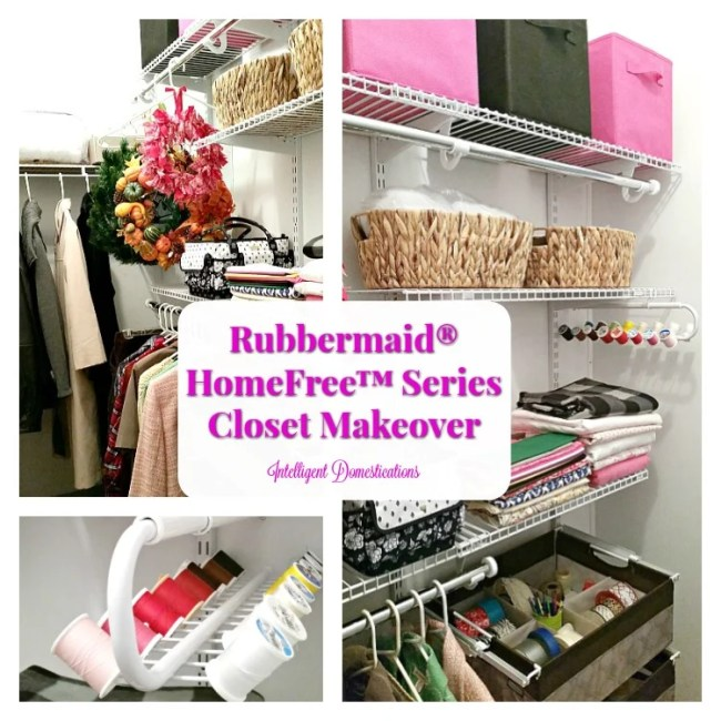 Our Closet Makeover with Rubbermaid® HomeFree™ Series