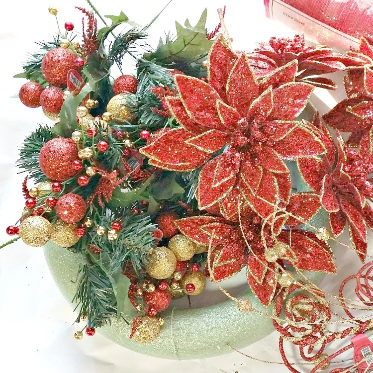 supplies-needed-for-a-diy-poinsettia-wreath-at-intelligentdomestications-com