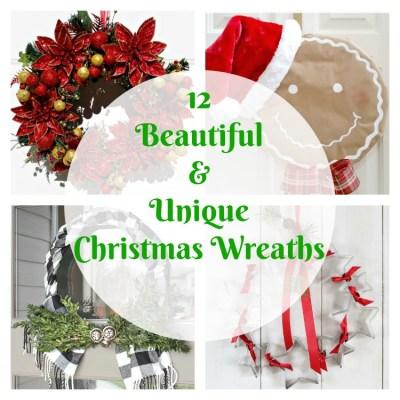 12 Beautiful & Unique Christmas Wreaths