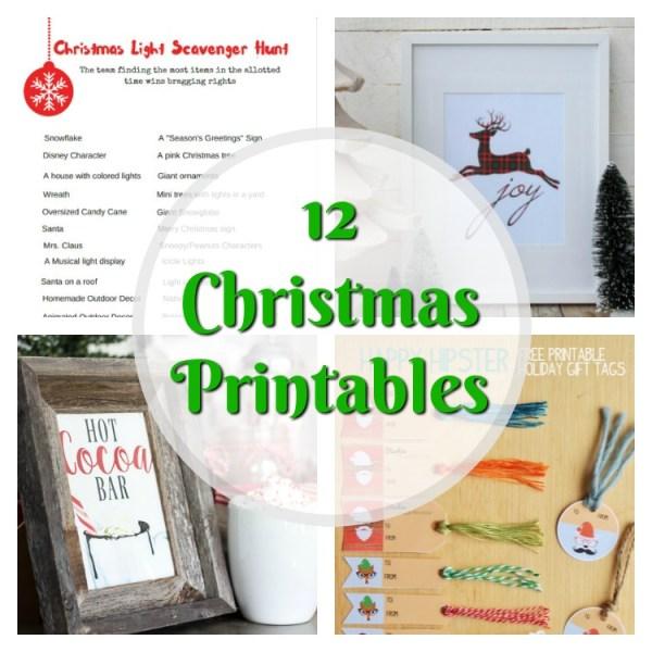 12 Christmas Printables