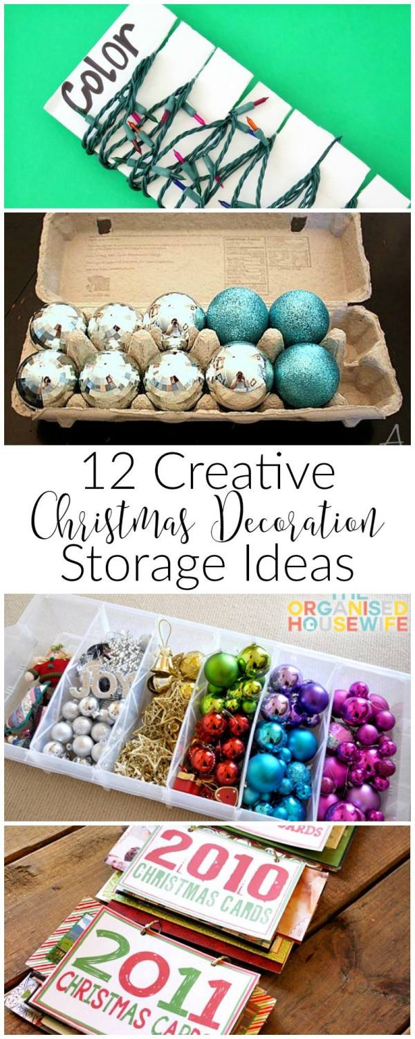 How to store your Christmas decorations. Christmas storage solutions. How to store Christmas decor