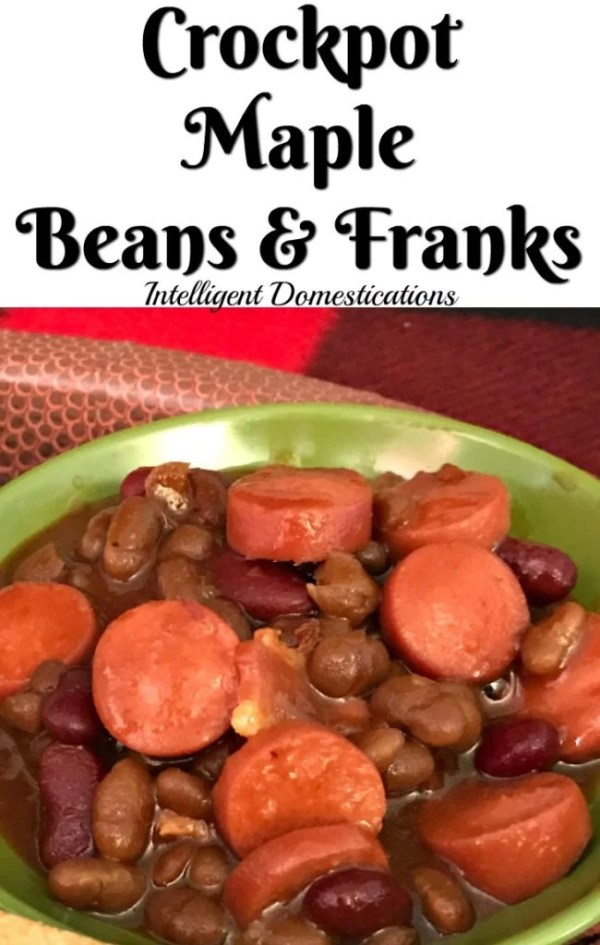 Crockpot Maple Beans & Franks easy recipe