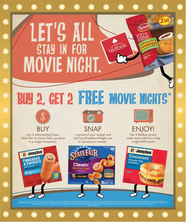 Tyson Redbox Free Movie Nights Info