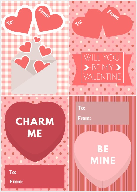 Free Printable Valentine\'s Day Cards | Intelligent Domestications