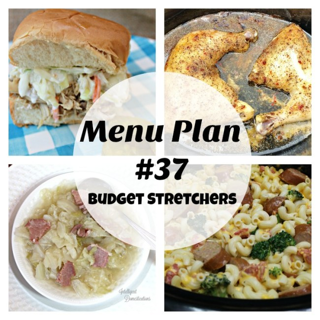 Menu Plan #38. Introducing Budget Stretchers at Intelligent Domestications