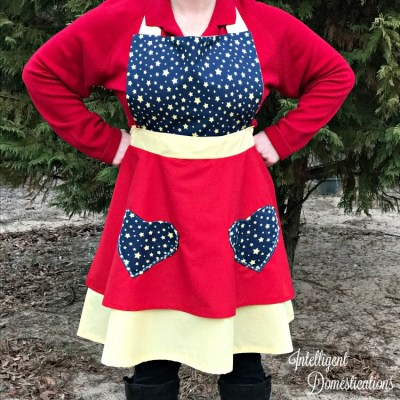 Super Mom Apron Sewing Project