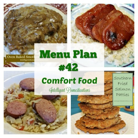 Menu Plan #42 Comfort Food