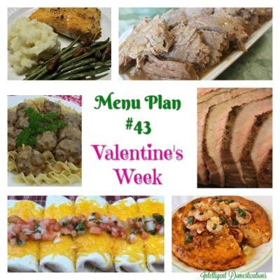 Menu Plan #43 Valentine's Week