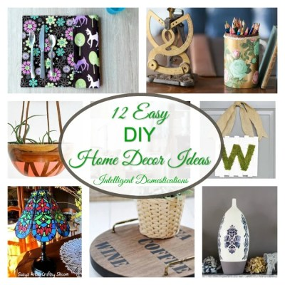 12 Easy DIY Home Decor Ideas & Merry Monday Link Up #144