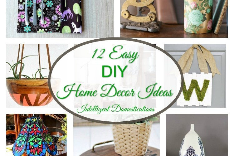 12 Easy DIY Home Decor Ideas & Merry Monday Link Up #144