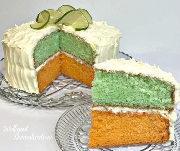 Citrus Cake Recipe with Lemon Lime Cream Cheese Frosting. Easy Citrus Cake recipe