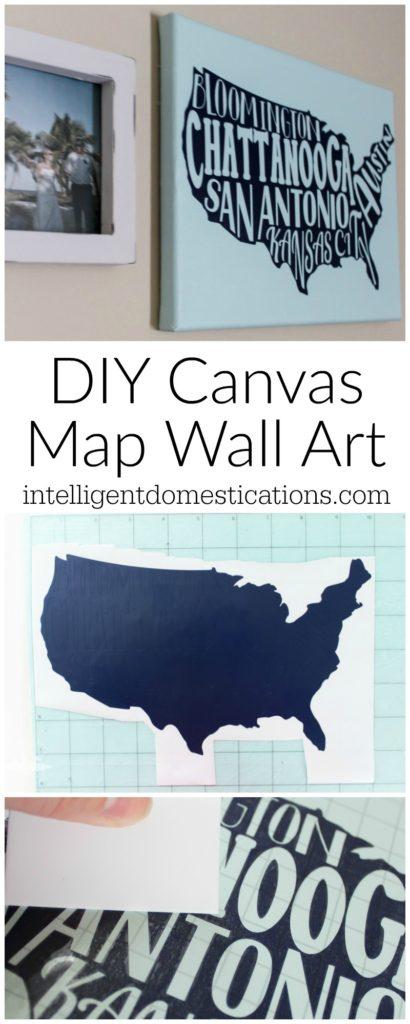 Fresh DIY Canvas Map Wall Art Cameo project