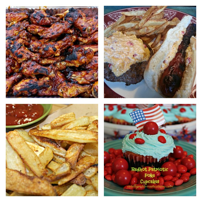 Summer celebration menu options. Memorial Day easy menu.