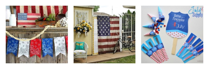 Red White and Blue Patriotic Decor DIY Ideas