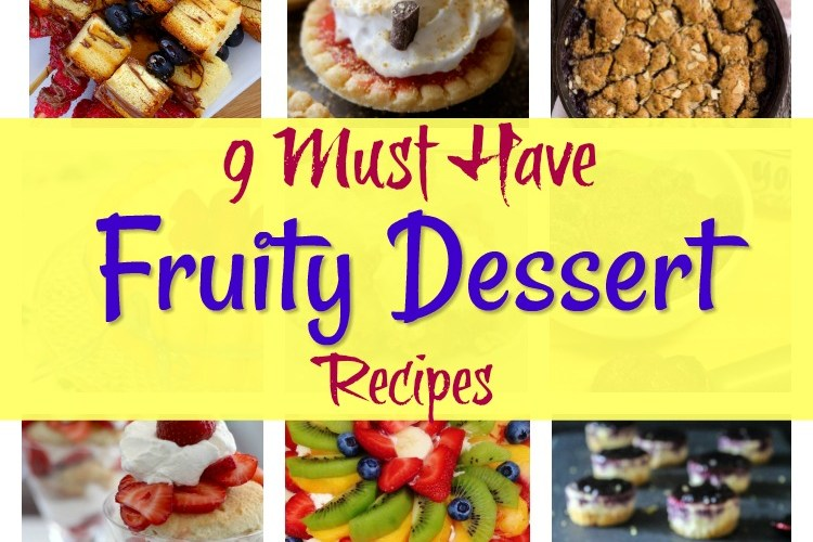 Fruity Dessert Recipes and Merry Monday Link Party #163