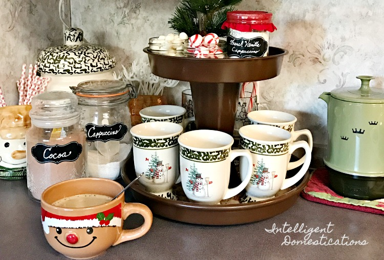 DIY Two Tier Hot Cocoa Bar Stand