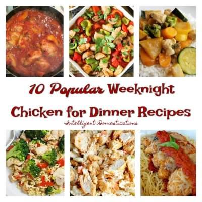 10 Weeknight Chicken Dinner Recipes & Merry Monday Link Up #168