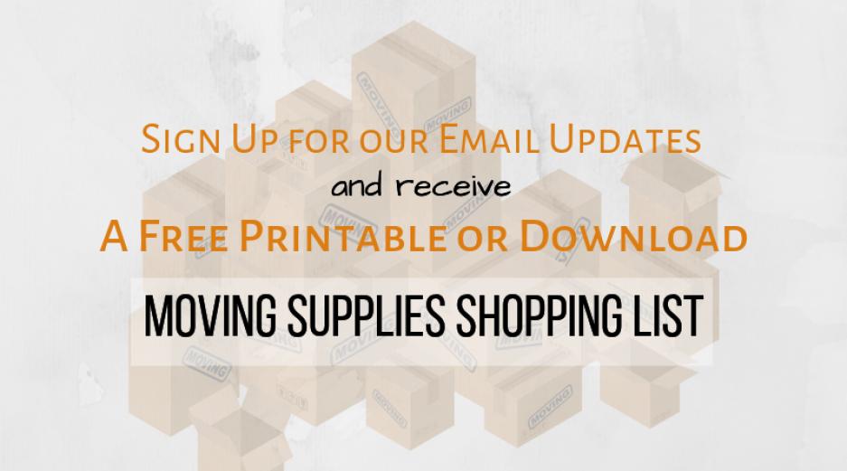 Moving Supplies Shopping List Printable
