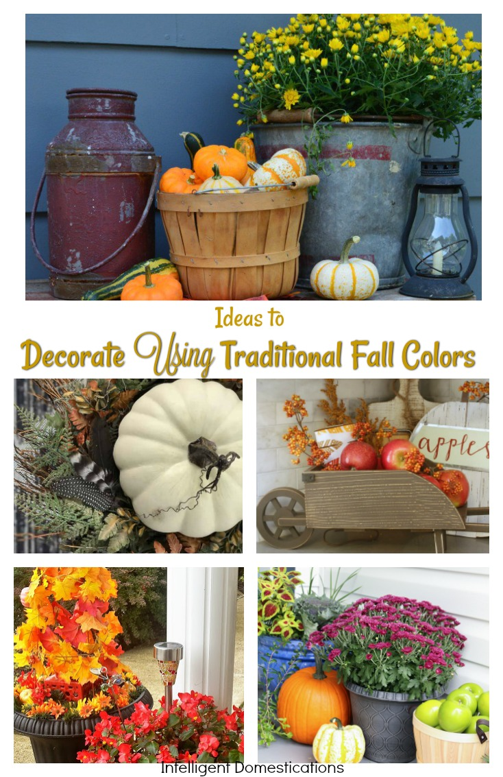 Beautiful Ideas to Decor Using Traditional Fall Colors. Merry Monday Link Party 173 Features
