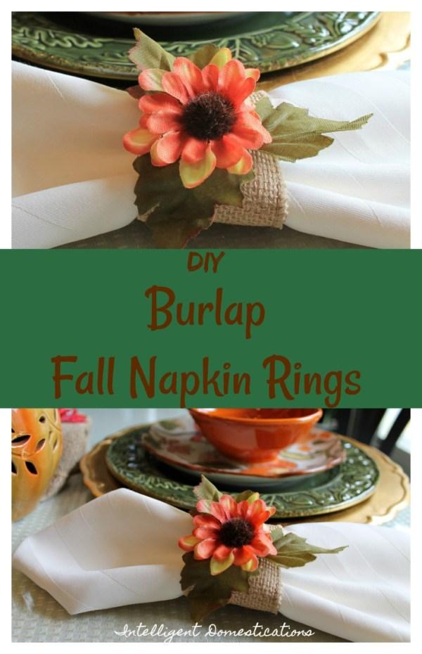 DIY Burlap Fall Napkin rings