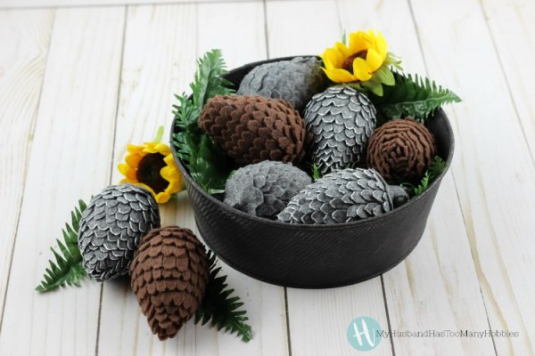 DIY Felt Pinecones tutorial