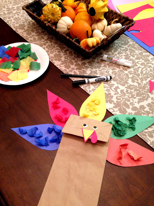 Paper Bag Turkey featured at Merry Monday Link Up
