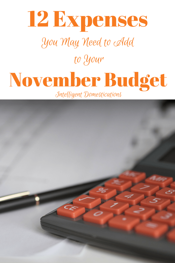 12 Things You May Need to Add to Your November Budget. Family budgeting in November. November family finance