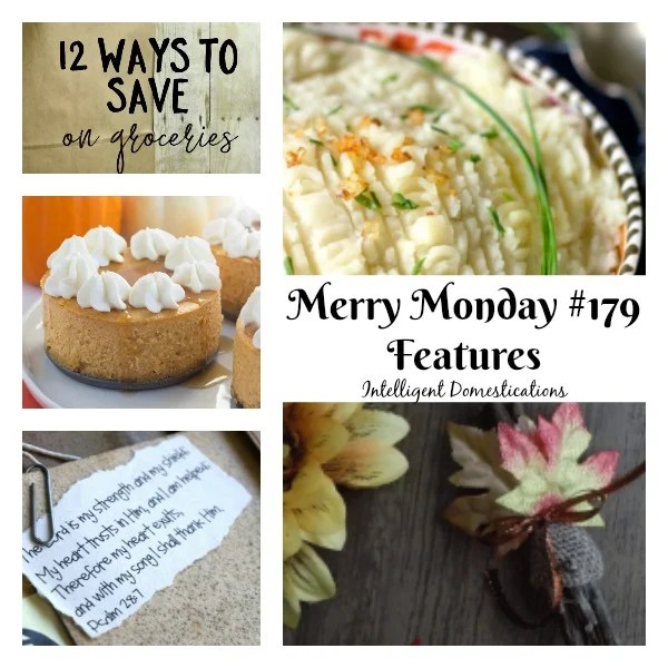 Merry Monday Link Up Party #179 Featured Posts at Intelligent Domestications