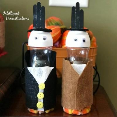 Thanksgiving Pilgrim Creamer Bottle Kids Craft